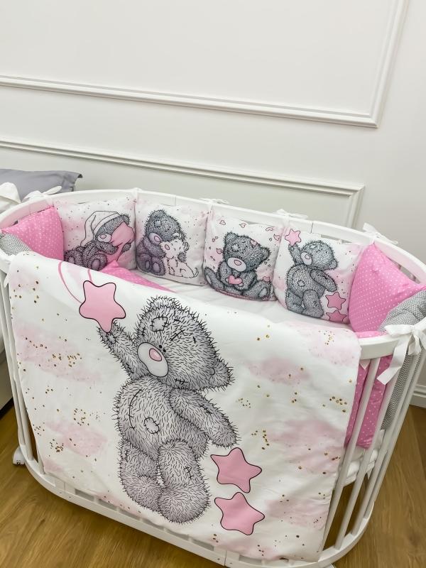 """Бортики Мишка """"Розовый"""""""