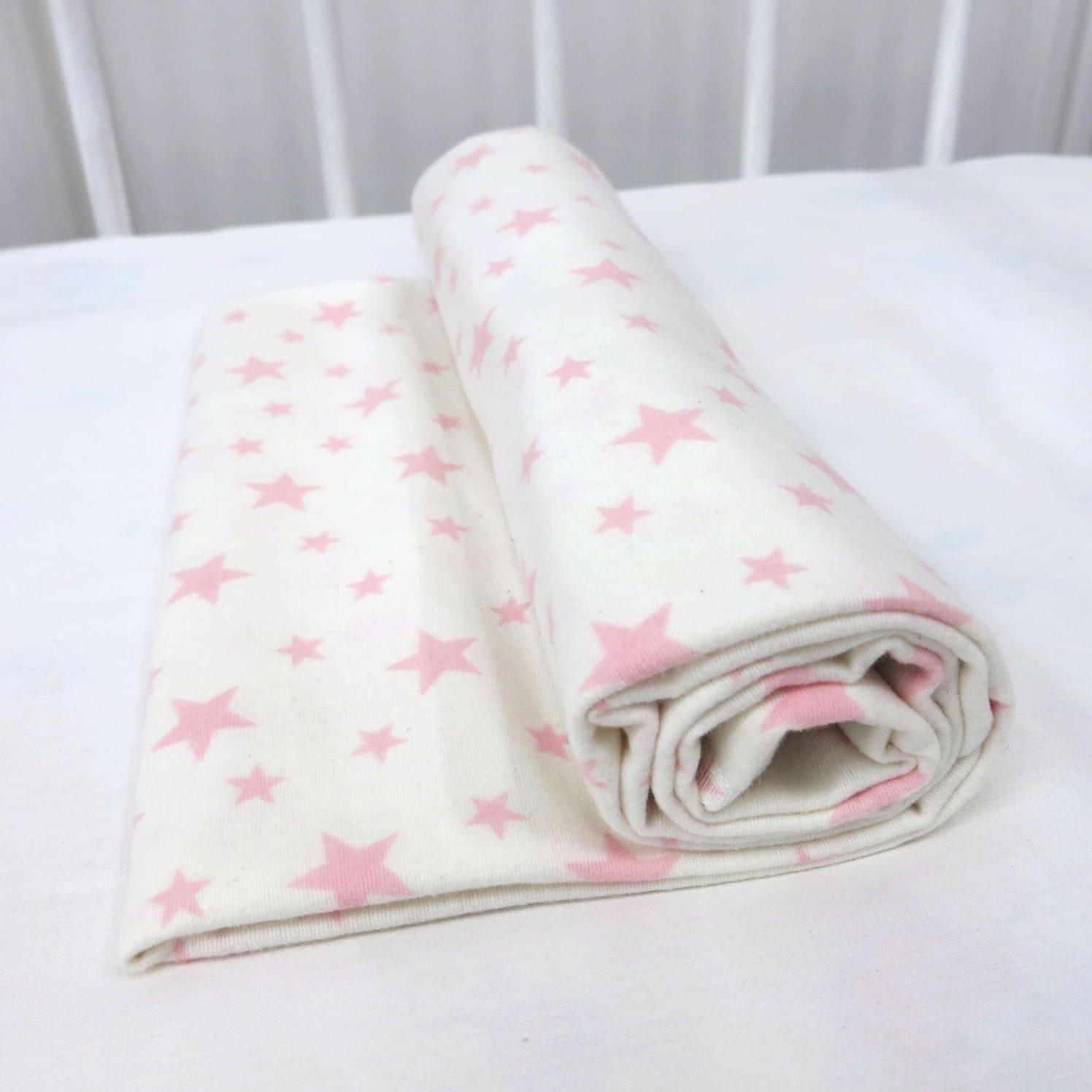 Фланелевая простыня 100х120 Розовая звездочка