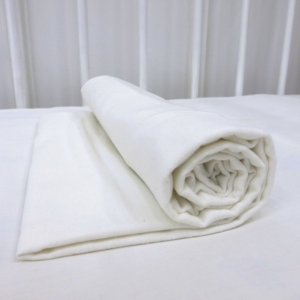 Фланелевая простыня 100х120 Белая