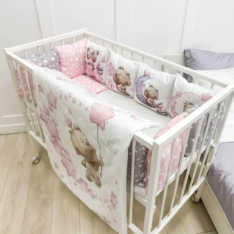 """Бортики """"Мишкины сны"""" розовые"""